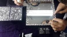 Kristal Swarovski Taşlarla Ayna Dekorasyon